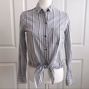 Madewell Blue & White Striped Button Down Shirt S
